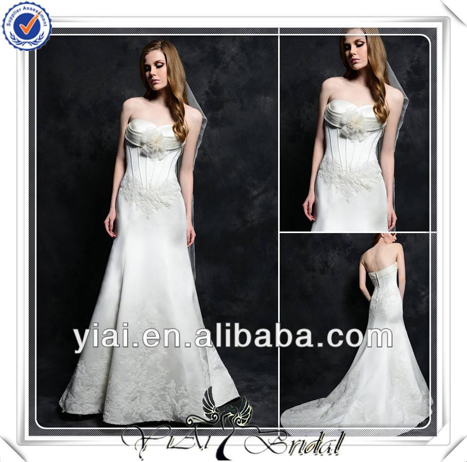Fq0463 дорогая диф стороны- сделал цветы шнурокдляботинок атласная платье невесты