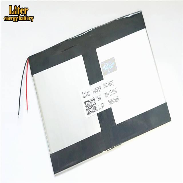 7.4 V 38125160 8600 mah agli ioni di litio Polimero Batteria Con di Alta Qualità Tablet pc batteria Li-Ion per tablet PC