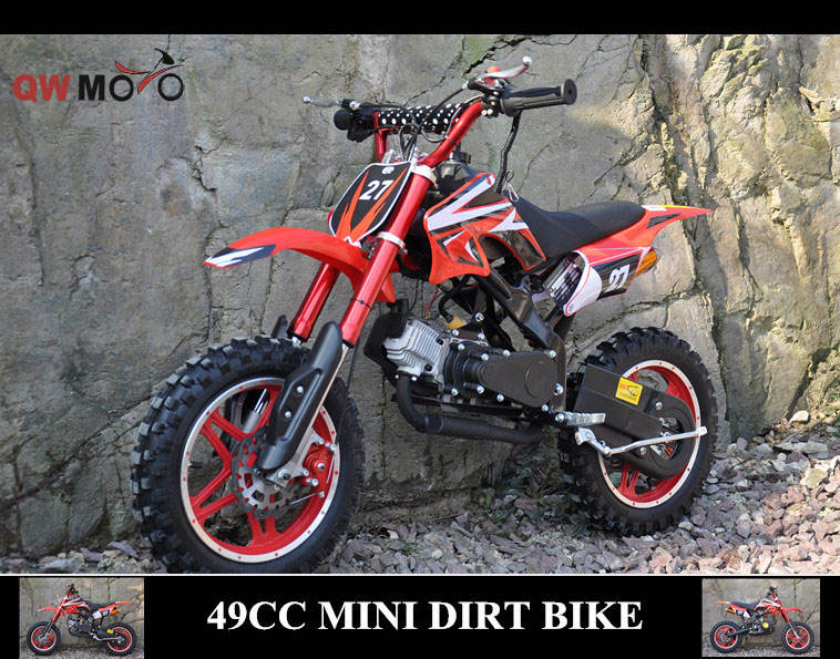 <span class=keywords><strong>QWMOTO</strong></span> CE 50cc 49cc Mini moto 49cc pocket bike tire de inicio de La Motocicleta off road mini bicicleta niños