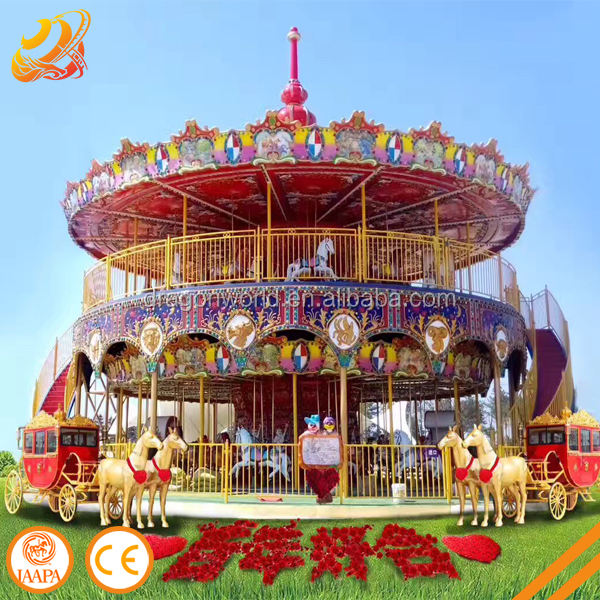 The most popular carousel horse luxury carousel ride outdoor amusement park rides