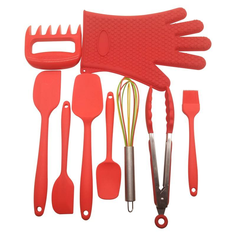 Factory wholesale silicone kitchen utensil set cooking tools for home & restaurant
