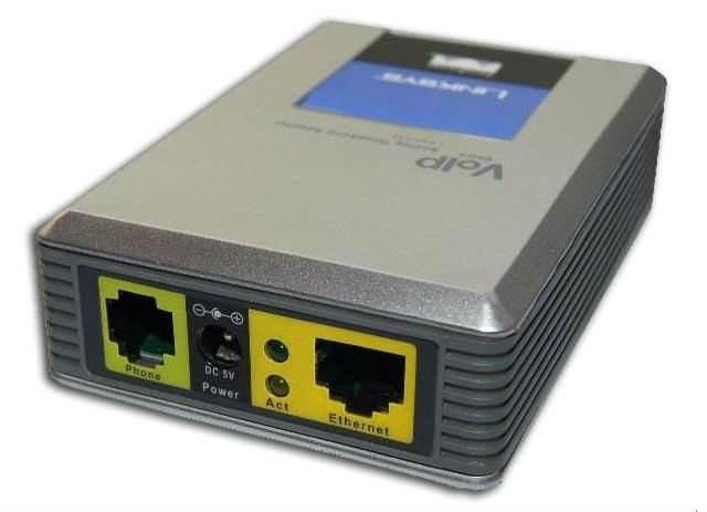 ロック解除のLinksys SPA1001 VoIPゲートウェイ工場出荷時の価格と1 FXSポート