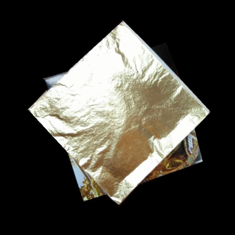 Профессиональное качество 86 # внутренние декоративная имитация лист золотой фольги листов, 14*14 см, 1000 шт./кор.
