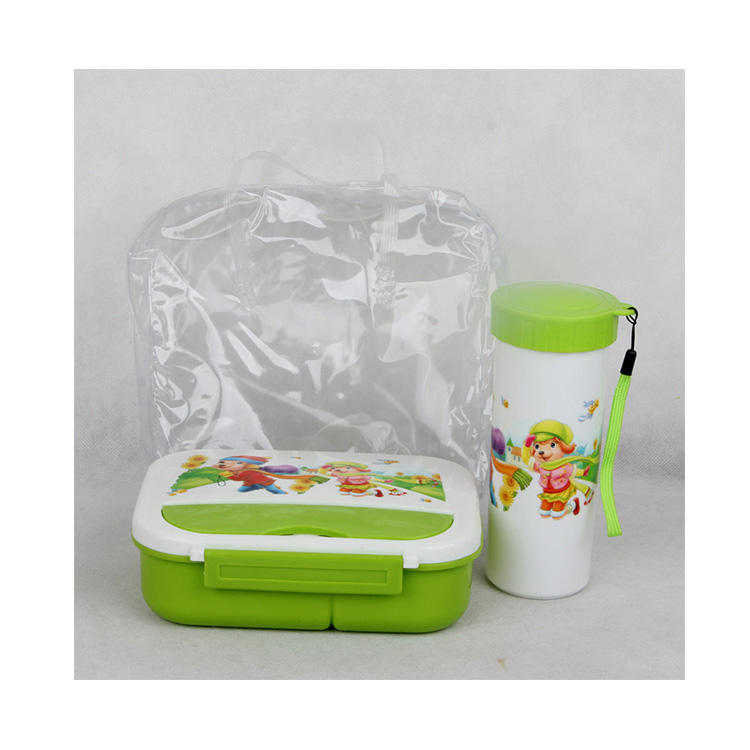 China Supplier heat resistant food storage container Insulated Lunch Box with water bottle