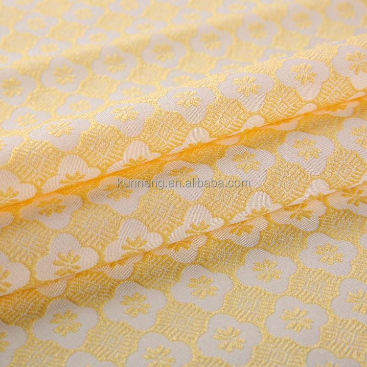 Venta caliente buena calidad hilo teñido jacquard toalla polar tejido elástico