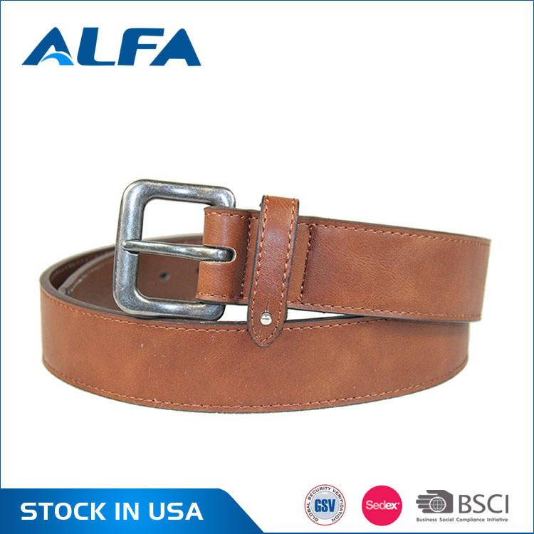 Alfaハイト品質製品ブランドデザイナークラシック男puコーティング革オープンベルト