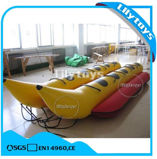 Гигантский надувной аквапарк игры <span class=keywords><strong>flyfish</strong></span> банан/взрослых надувной банан для продажи