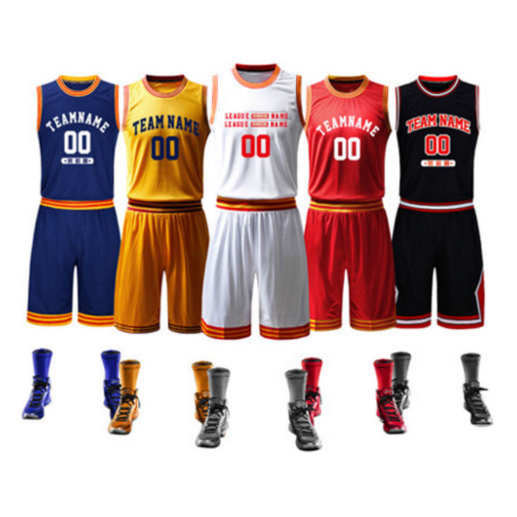 custom made high quality breathable youth basketball jersey team uniform basketball sets