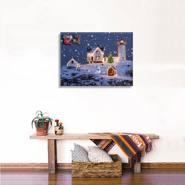 Известный качество низкая цена цифровой волокна дети холст печати для Рождественский магазин Декор