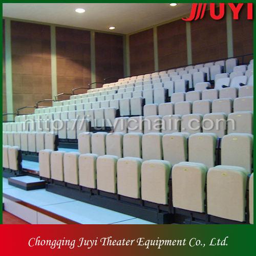 Tribuna JY-768 precio de fábrica telescópica de las gradas de madera de interior del teatro móvil asientos