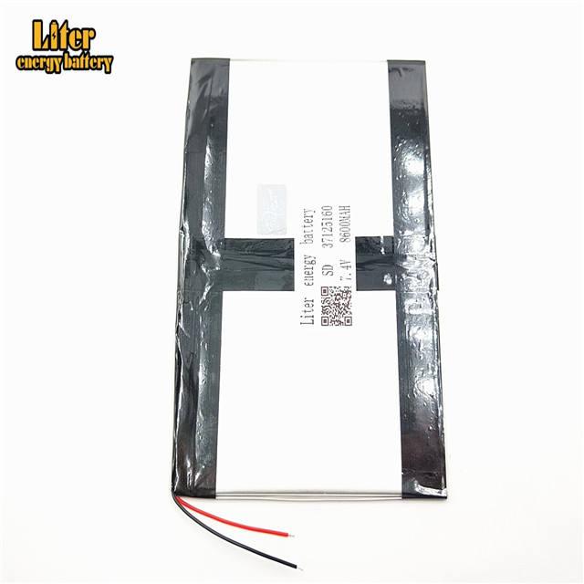 7,4 V 37125160 8600 mah Lithium-ionen-polymer-akku Mit Hoher Qualität Li-Ion Tablet pc batterie für tablet PC
