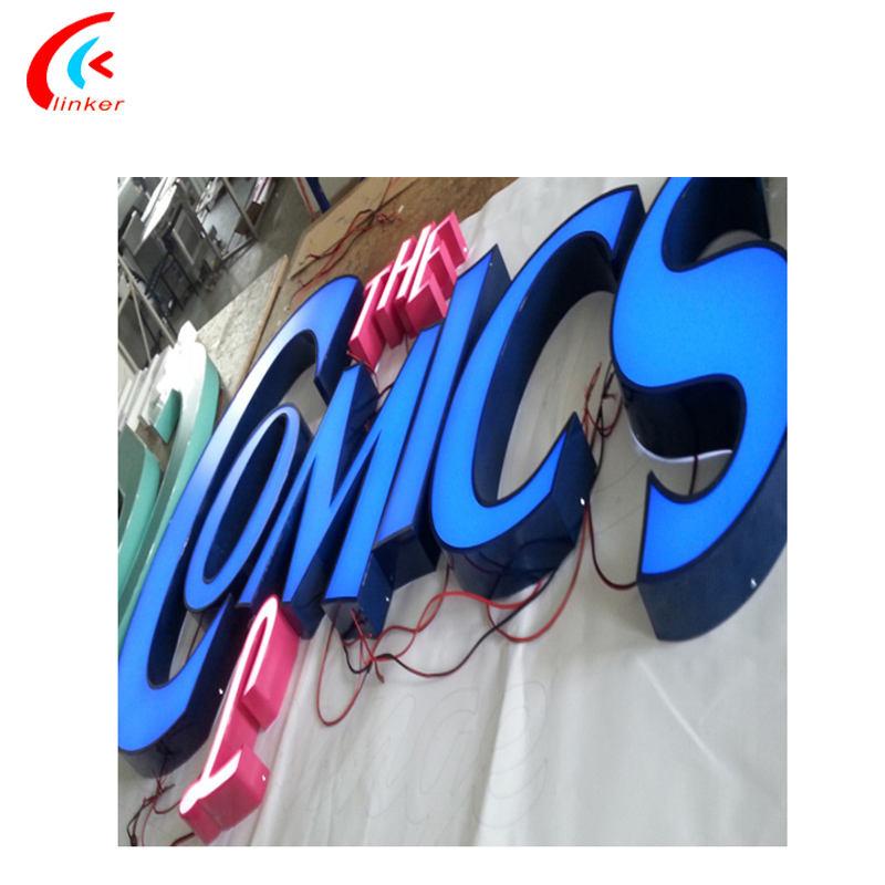 Led signe usine canal éclairage au néon acrylique lettre