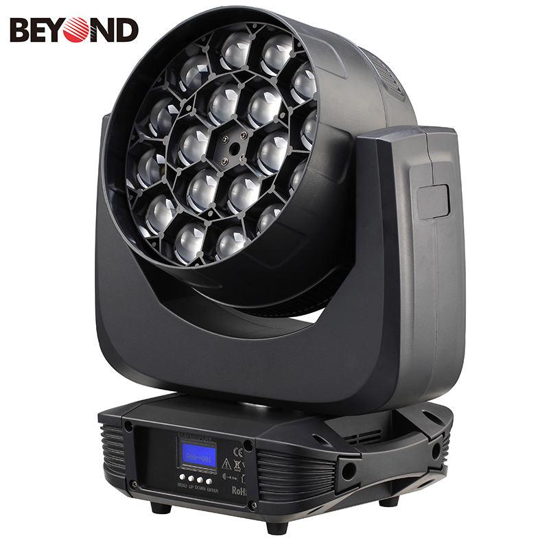 18 unidades 15 W 4in1 rgbw LED zoom cine equipos de iluminación