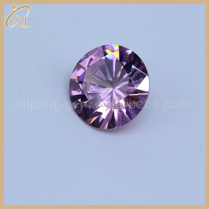Gran oferta 2.5mm rosa ronda cubic zirconia piedra preciosa con precio al por mayor