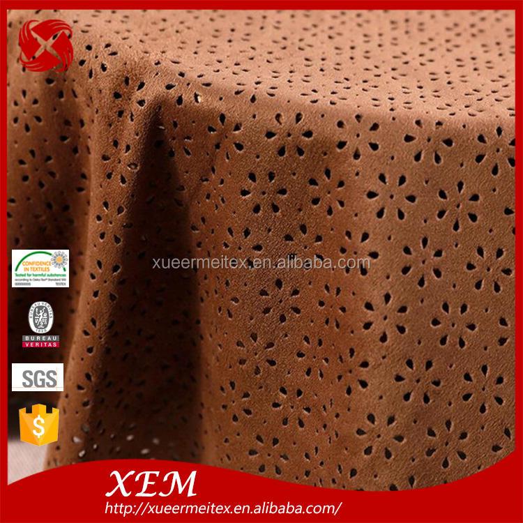 Material de la prenda de alta calidad tejer 204*96 revestimiento de tela de gamuza sintética