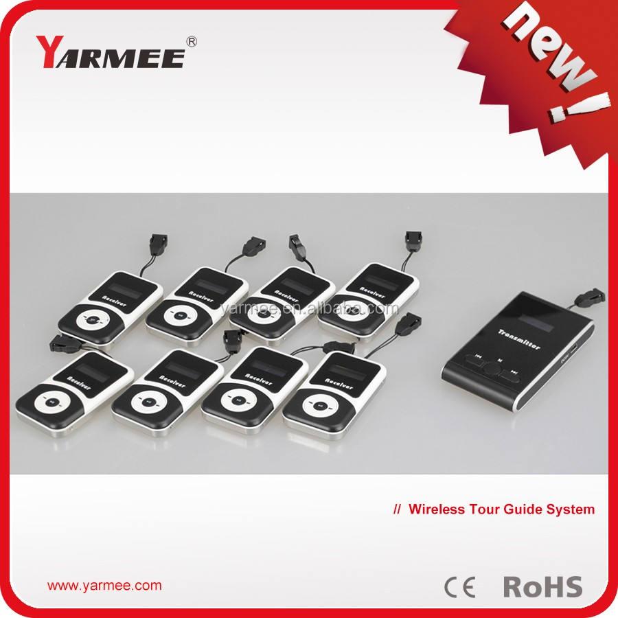 Sans fil émetteur - récepteur audio de portable système de guide avec guide micro - de YT100 YARMEE