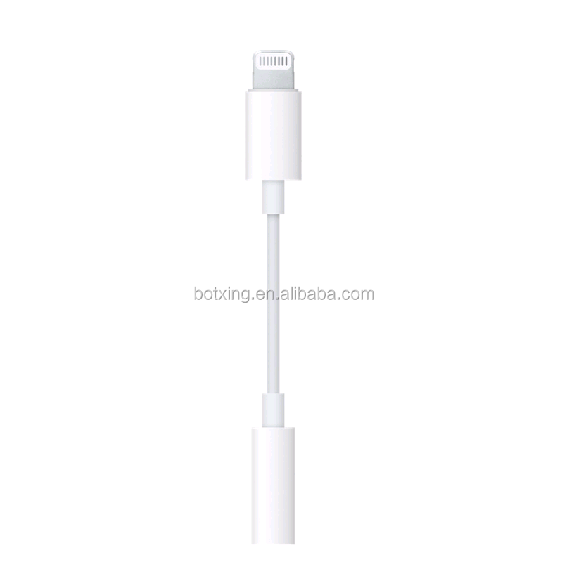 Cable de iluminación blanco a 3,5mm para iphone, Adaptador de audio con conector de auriculares certificado MFi de apple para iPhone XS