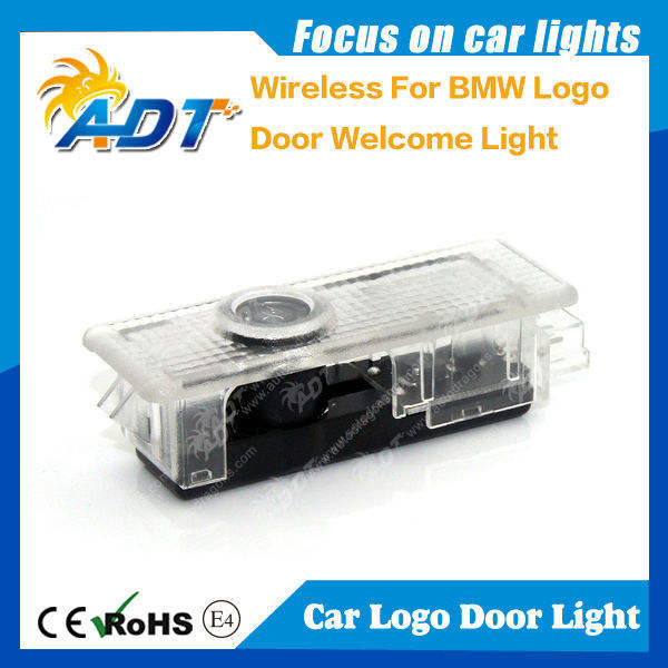 Bán nóng không dây plug and play LED auto logos nhẹ đối với bmw dẫn đèn cửa