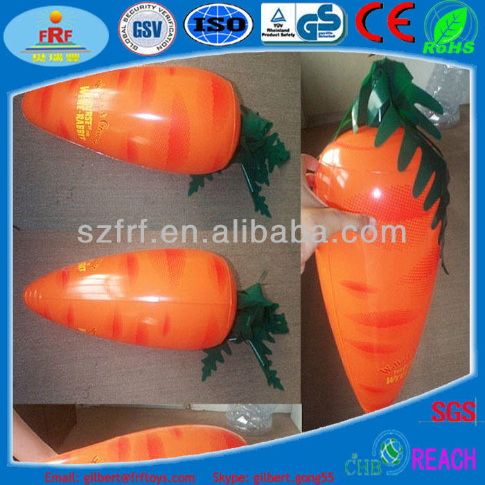 Personnalisé en pvc gonflable carotte/jouet gonflable/infatable réplique