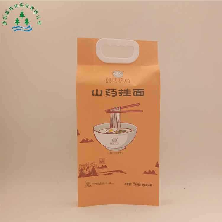 Горячие продажи встать ламинированные пластиковые пищевой лапша упаковки сумка с ручкой