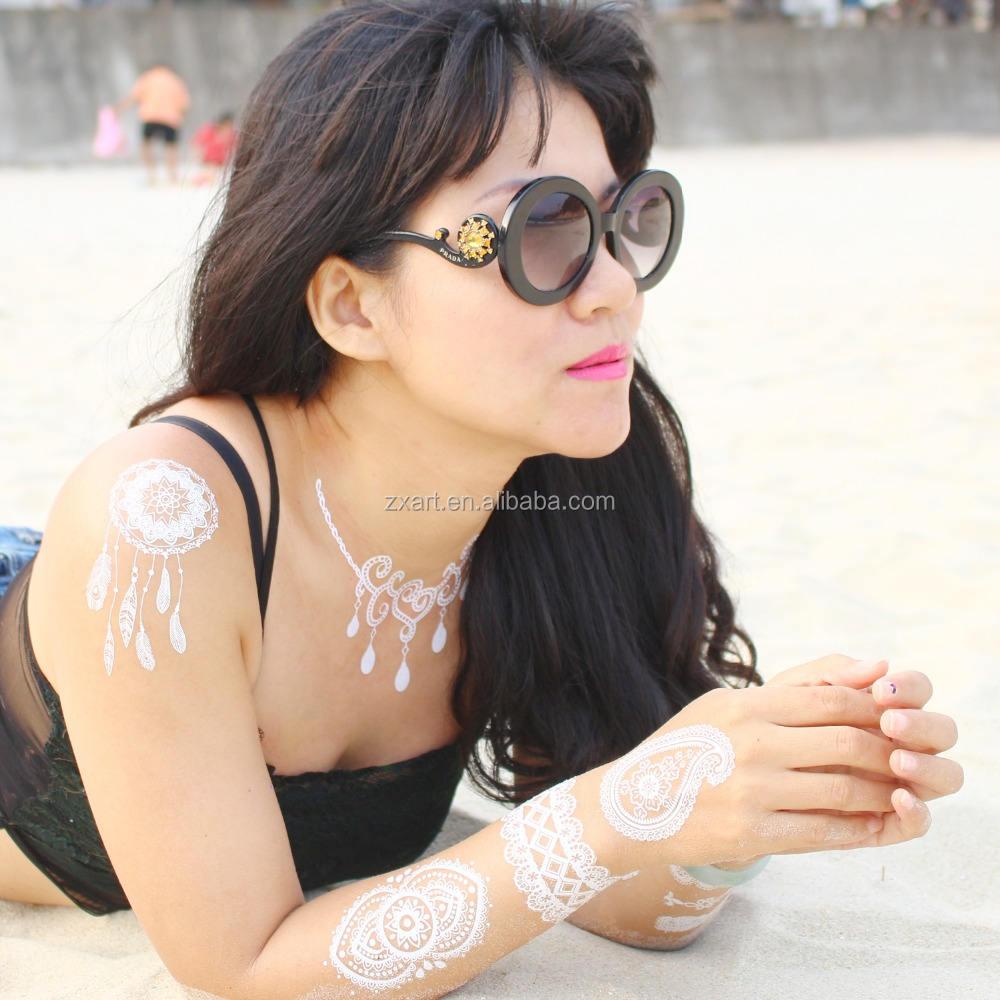 Sexy ventre Dame dentelle tatouage dentelle dessins de tatouage temporaire, tatouage de mode