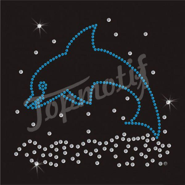 jumping golfinho de <span class=keywords><strong>ferro</strong></span> em strass design