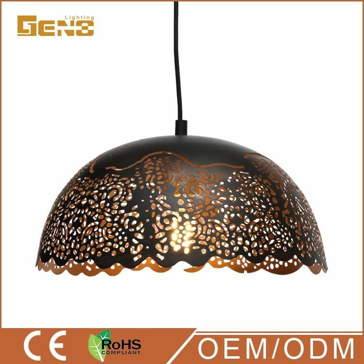 2017 industria del agujero colgante metal de la vendimia colgante de luz