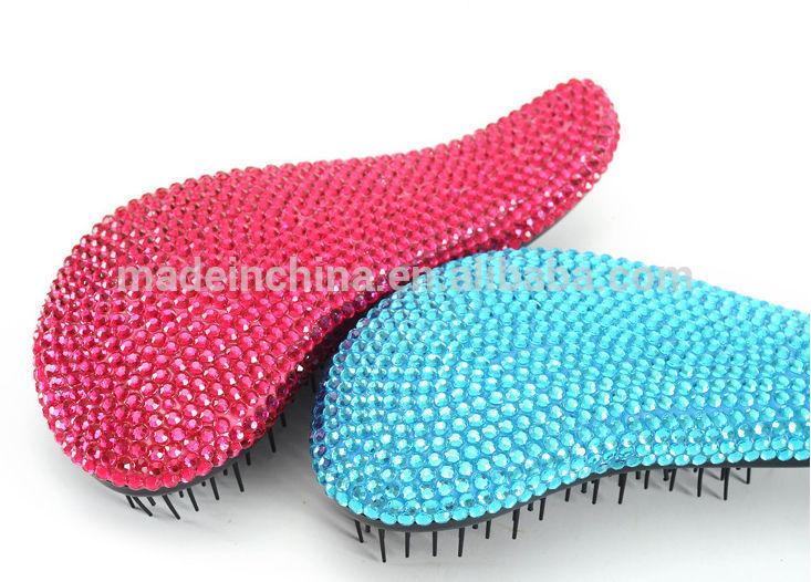 горячий продавать detangling волос щетка с кристально hc03, щетка волос, щетка волос <span class=keywords><strong>подушки</strong></span>, гребень