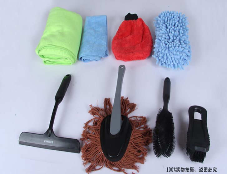 Multifunctionele microfiber wasstraat <span class=keywords><strong>tool</strong></span> kit cleaning sets met tire borstel