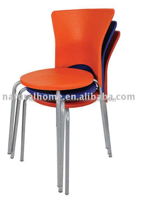 Morden de plástico de colores sillas de partido y silla de comedor