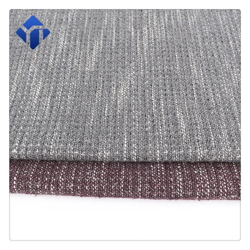 Woven suiting cotton blended tweed fabric by the metre polyester for free sample