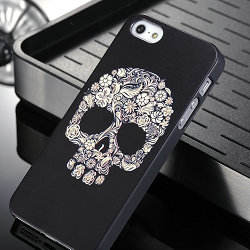 <span class=keywords><strong>Crânio</strong></span> de para iphone 5,caso de volta de plástico para iphone 5s