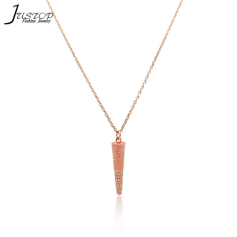 Ouro rosa colar de jóias para as meninas