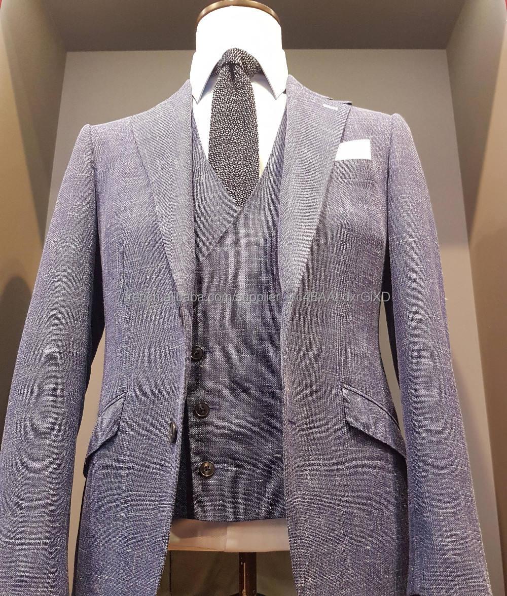 Nouveau Design super 120 s costume laine double breasted sur mesure hommes costume