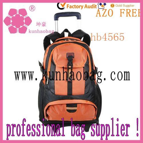 laranja impermeável mochilas com rodas