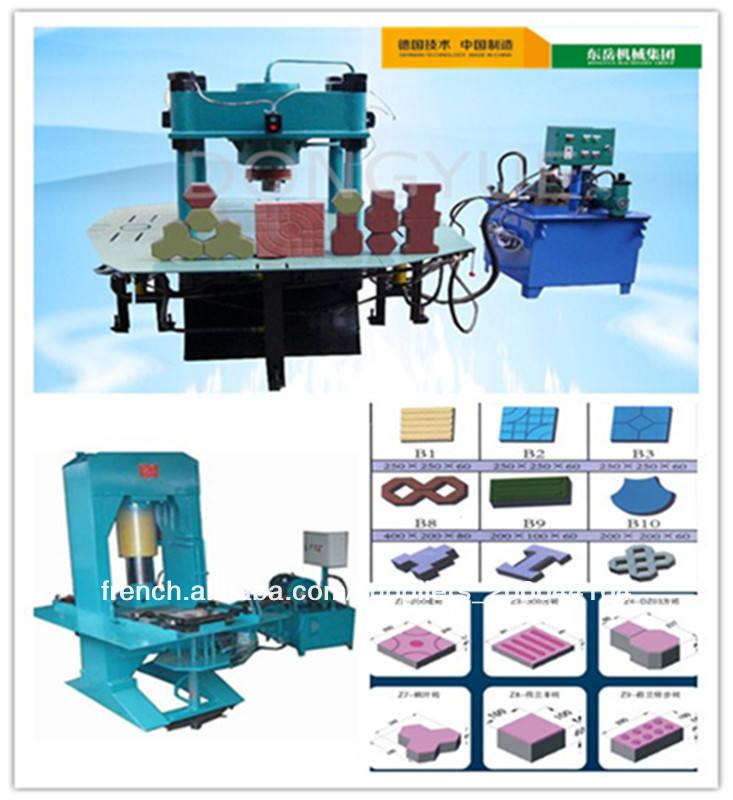 Dy-150tb hydraulique manuelle machine de bloc de terre comprimée