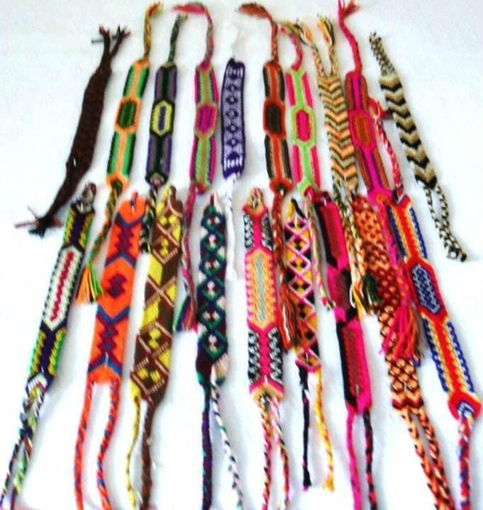 Bangle wayuu, tradicional bracelet, made by indigenous friendship hipanema