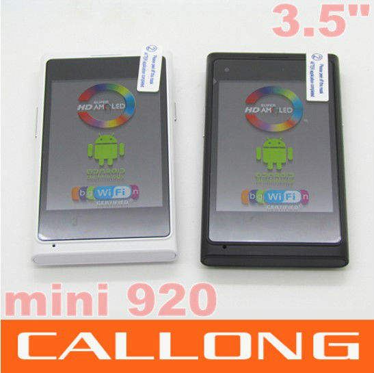 """Mini 920 Android phone sc6820 1Ghz 3.5"""" Capacitive screen Russian language Dual SIM Cell Phone"""