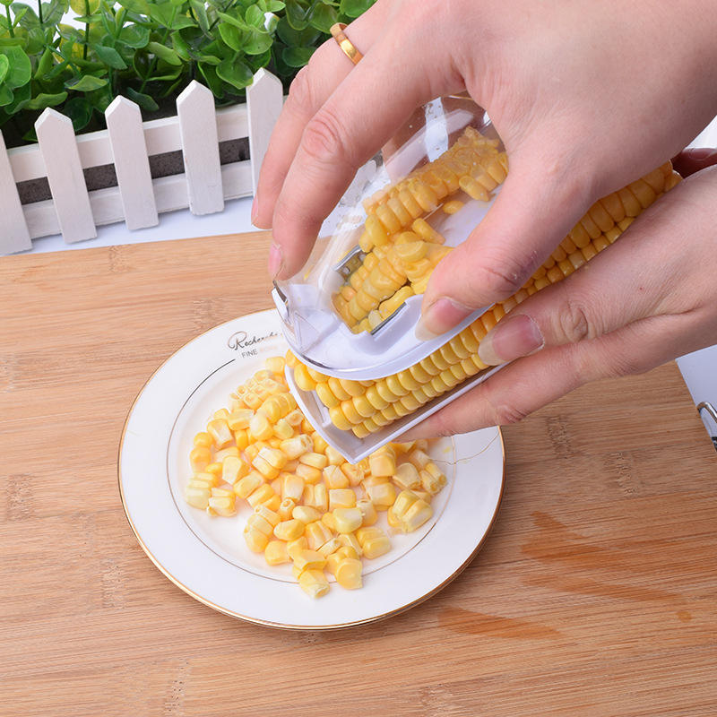 7044 multifuncional herramienta de cocina Manual Multi vegetales procesador de alimentos de maíz pelador conjunto