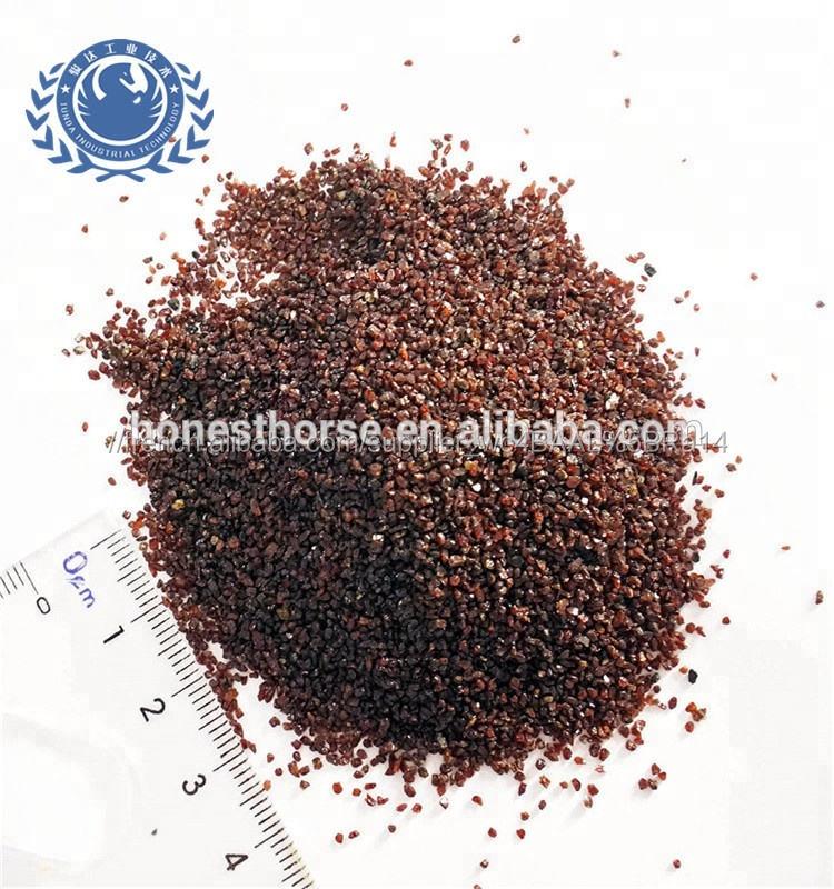 Haute dureté et rouge grenat sable 20 40 pour sablage et traitement de l'eau