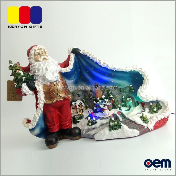 Китай Xmas Деревне Изменение Цвета Светодиодные Рождество Санта-Клаус Подарок