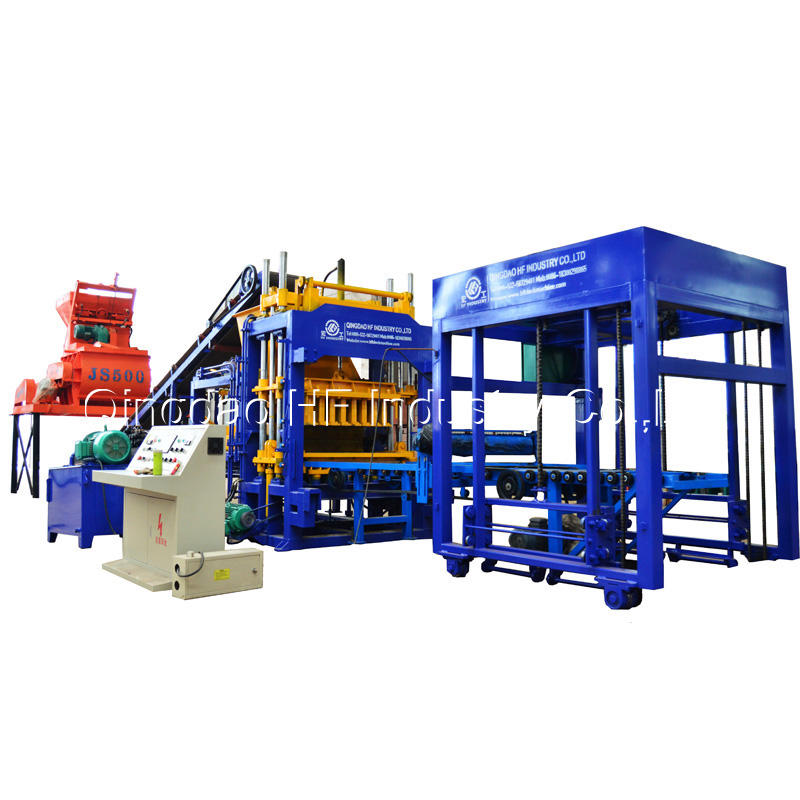 QT5-15 Fully Automatic Hydraulic Concrete Cement Hollow Paver Block Making Machine Production Line