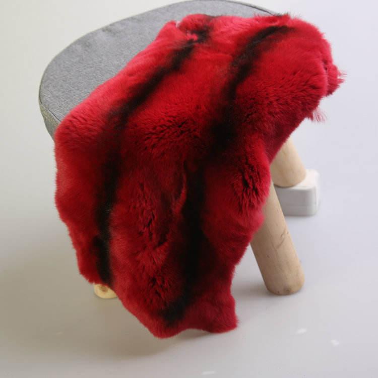 Qualität Natürliche gefärbte gegerbte Rex Rabbit Fur Skins