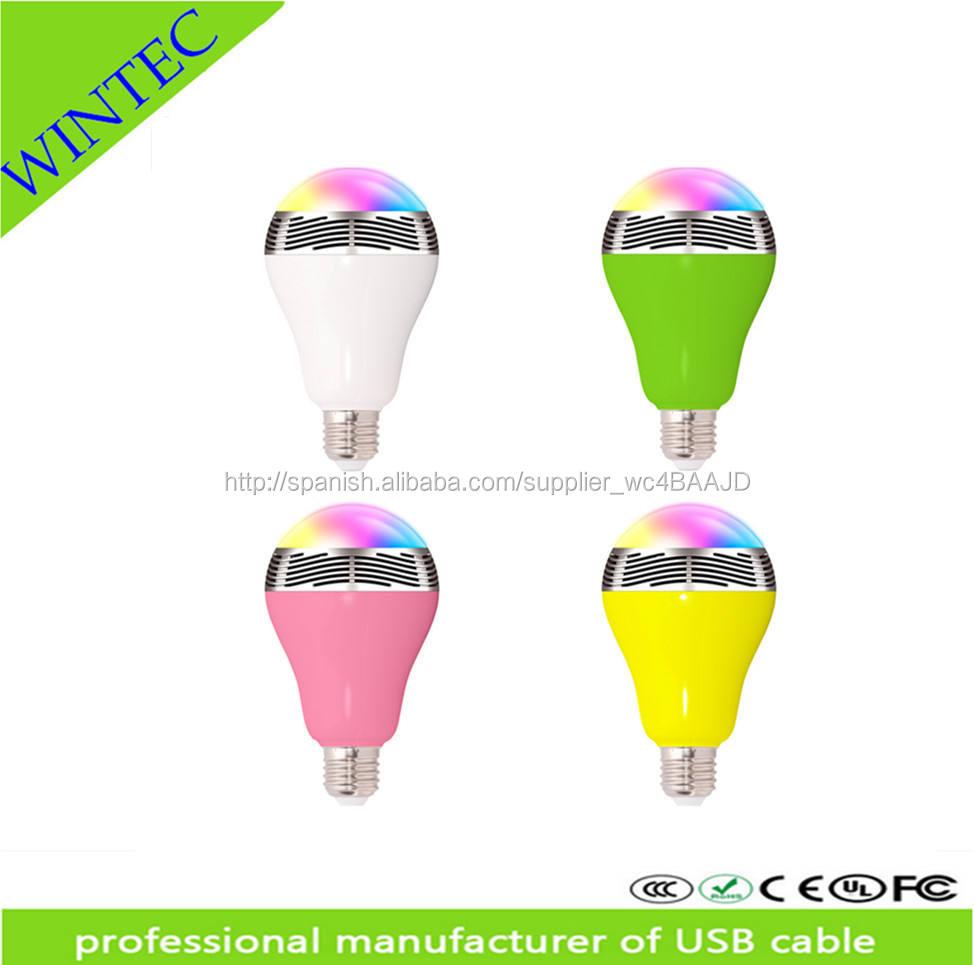 <span class=keywords><strong>nuevo</strong></span> Bluetooth LED bombillas <span class=keywords><strong>de</strong></span> <span class=keywords><strong>Color</strong></span> luces inteligentes inteligente lámparas <span class=keywords><strong>de</strong></span> iluminación Smartphone Control remoto