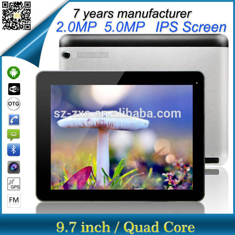ZXS-9.7-3Г alibaba Китай MTK8382 четырехъядерный 9.7'' сенсорный экран ноутбук мини андроид