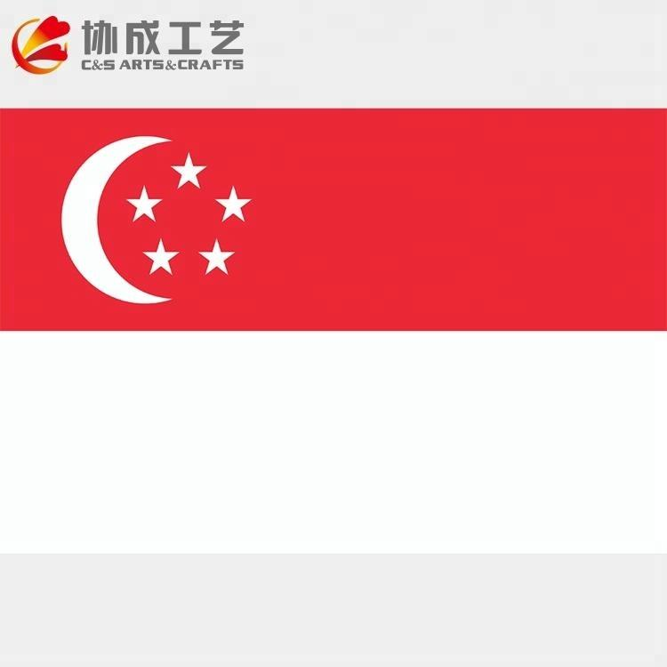 100% полиэстер Сингапур Страна Флаг