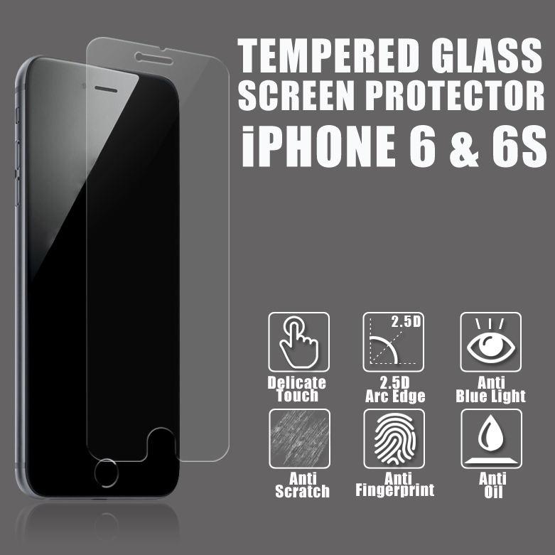 Anti 0,26 millimetri luce blu 9h premio vetro temperato protezione dello schermo per iphone 6/6 più