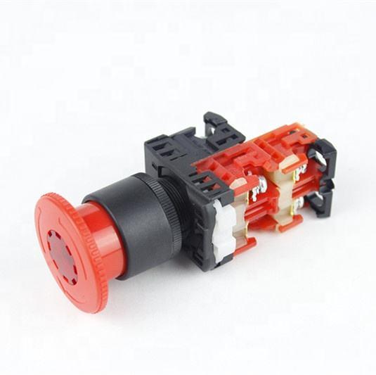<span class=keywords><strong>Haboo</strong></span> interruptor de parada de emergencia 22mm seta 2NC con iluminado 6 V 12 V 24 V 220 V e interruptor de parada