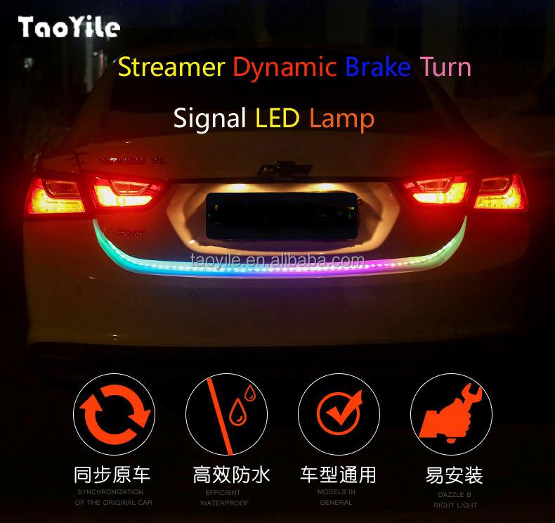 Universal Étanche Streamer Dynamique De Frein Clignotants LED Lumière