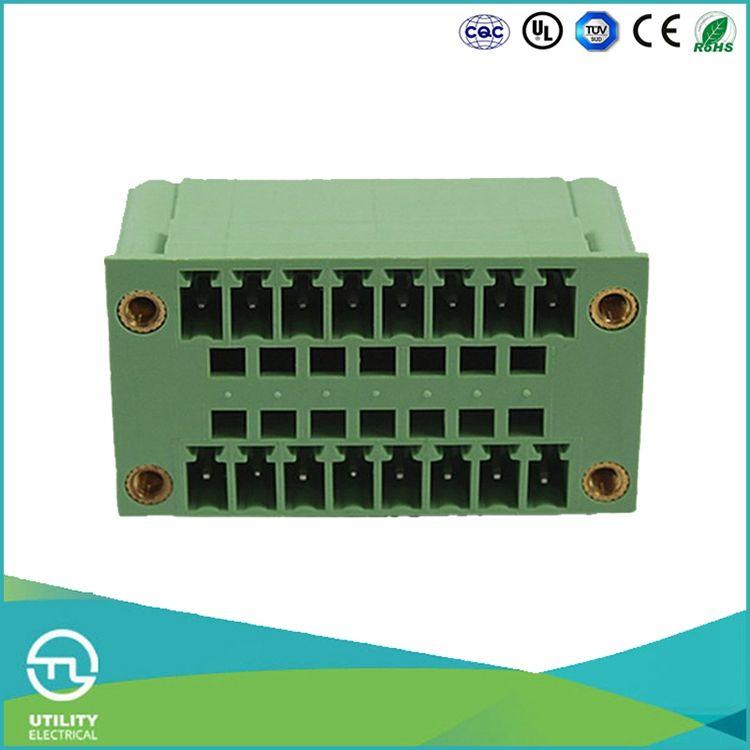 المنتجات المصنعة utl للتوصيل pcb محطة كتلة 3.81 ملليمتر والطالبات 300 فولت/8a